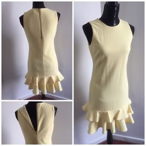 Calvin Klein- Ruffle Dress- Yellow